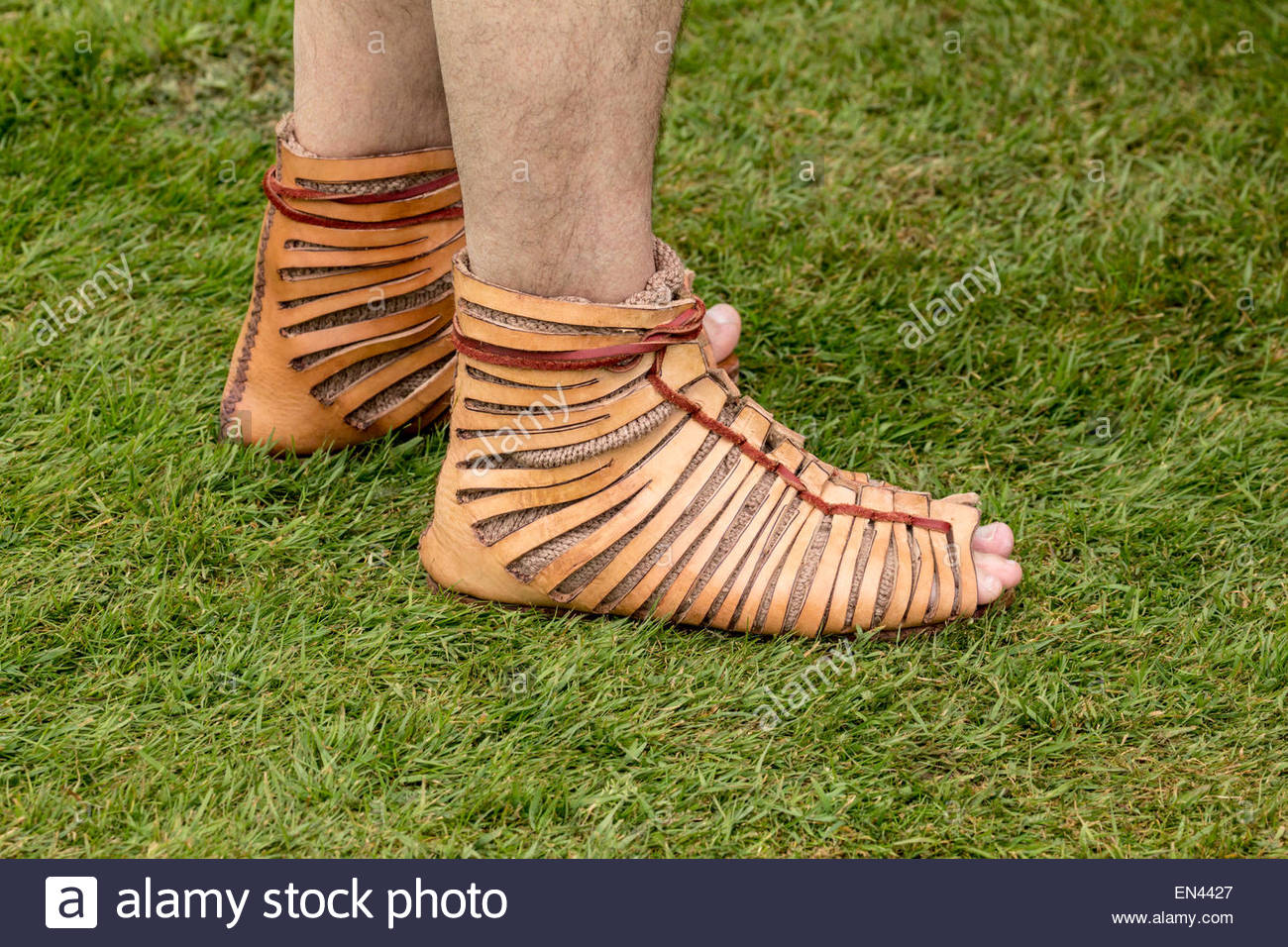 Roman Soldier Footwear - Stock Image