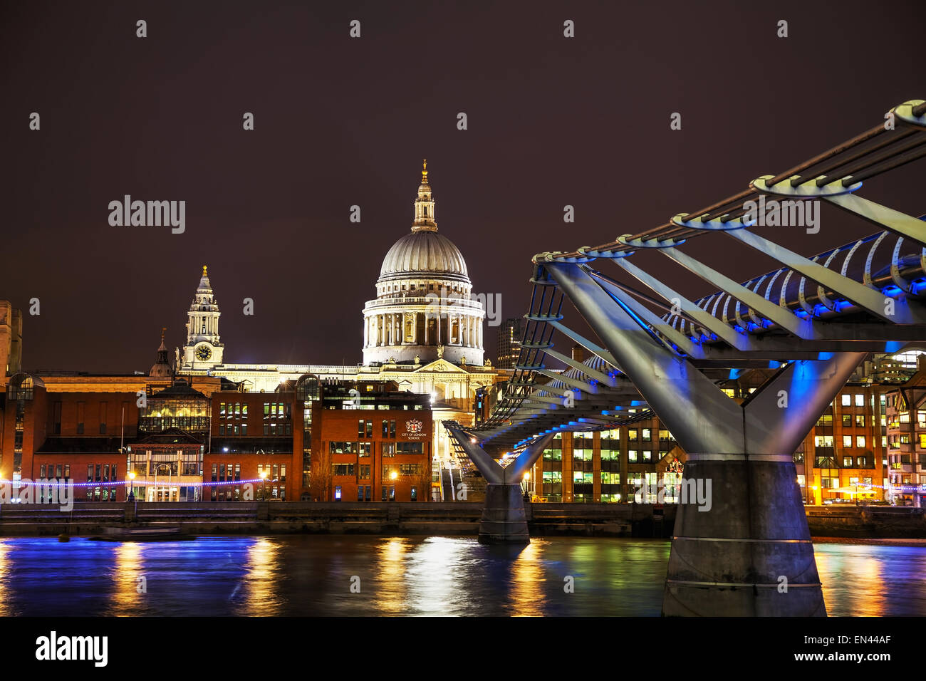 Saint Paul's cathedral in London, United Kingdom in the evening - Stock Image