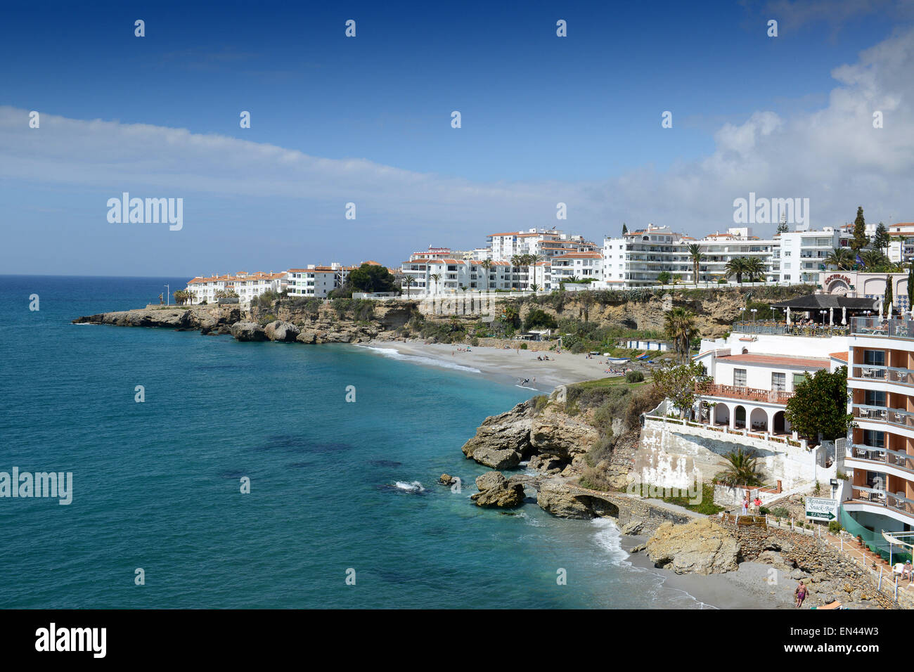 Nerja on the Costa del Sol in Andalusia southern Spain - Stock Image