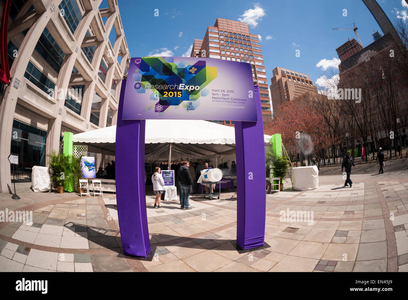 NYU-Polytechnic School of Engineering's Research Expo in Brooklyn's 'Tech Triangle' in New York - Stock Image