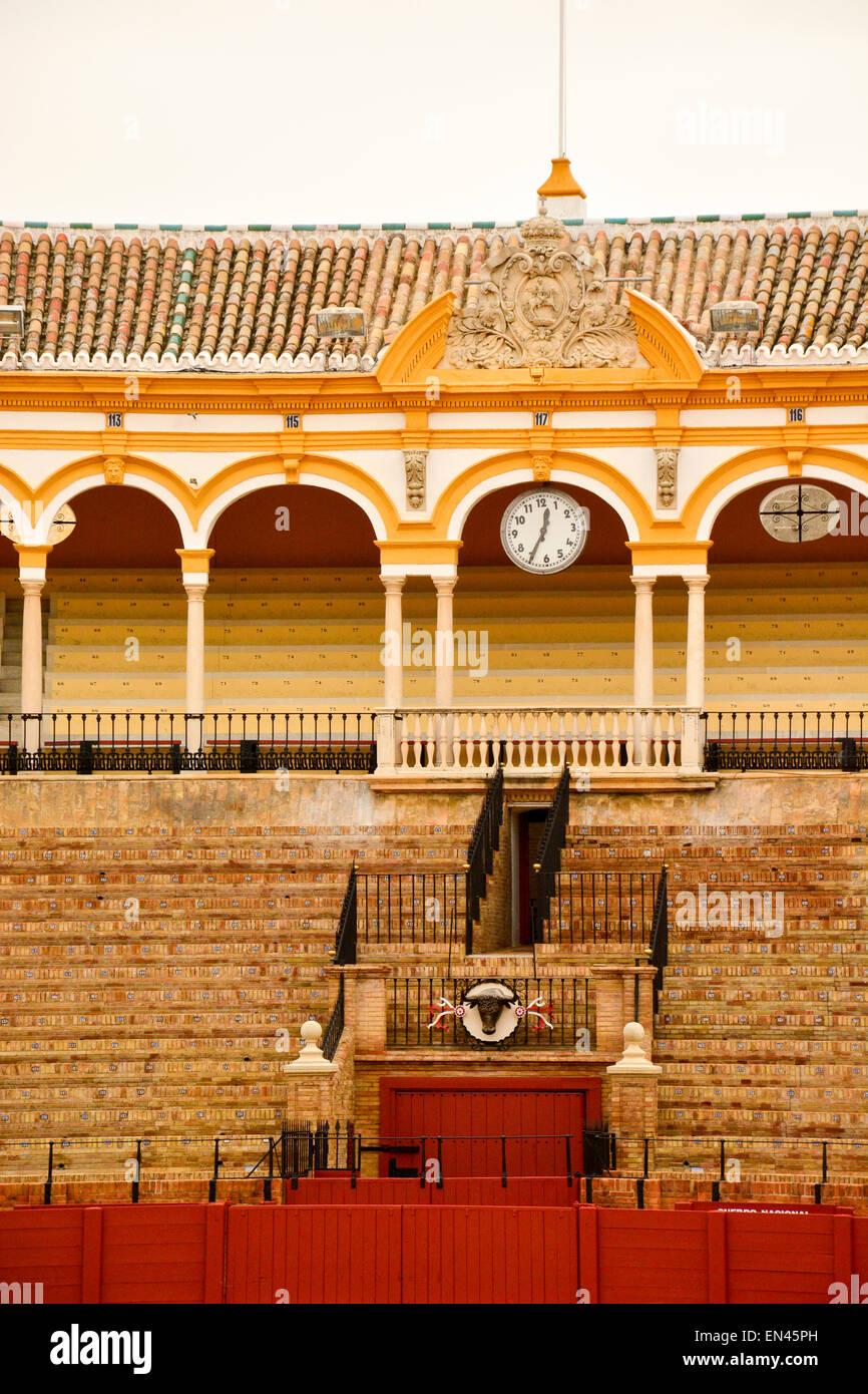 Plaza de toros de la Real Maestranza de Caballería de Sevilla, Spain - Stock Image