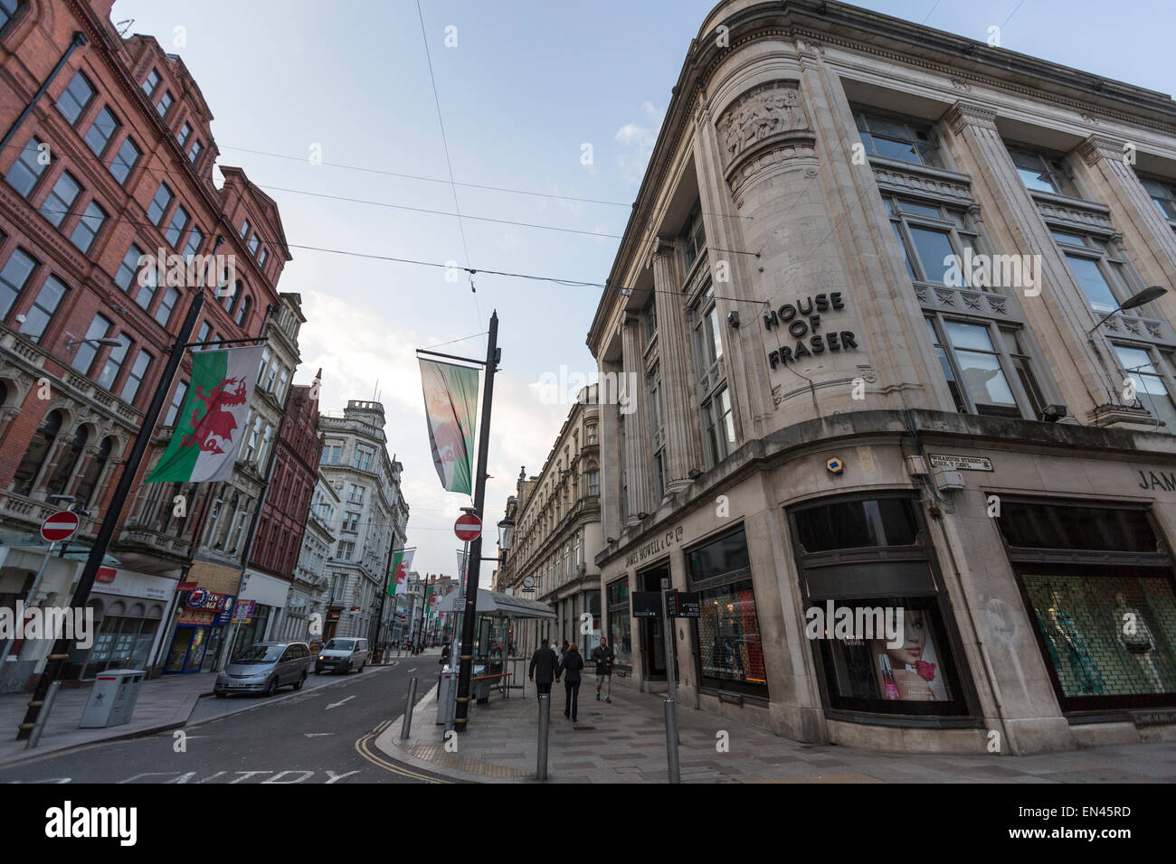House of Fraser, Department Store, in 14-18 Mary St., Cardiff - Stock Image