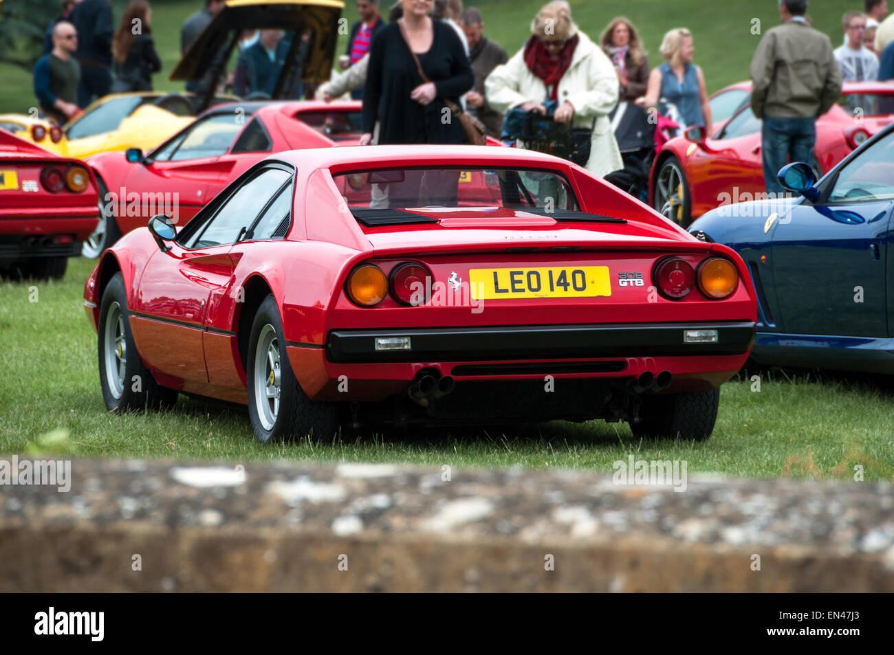 Ferrari 308 GTB at the Ferrari Owners Club Rally at Blenheim Palace, Woodstock, Oxfordshire - Stock Image