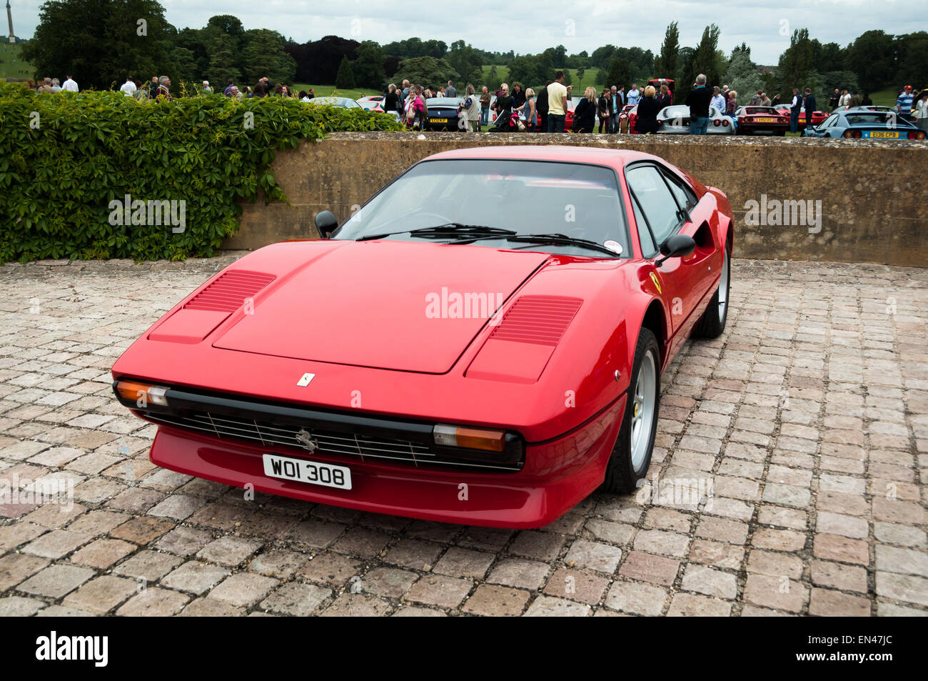 Ferrari 308 at the Ferrari Owners Club Rally at Blenheim Palace, Woodstock, Oxfordshire - Stock Image