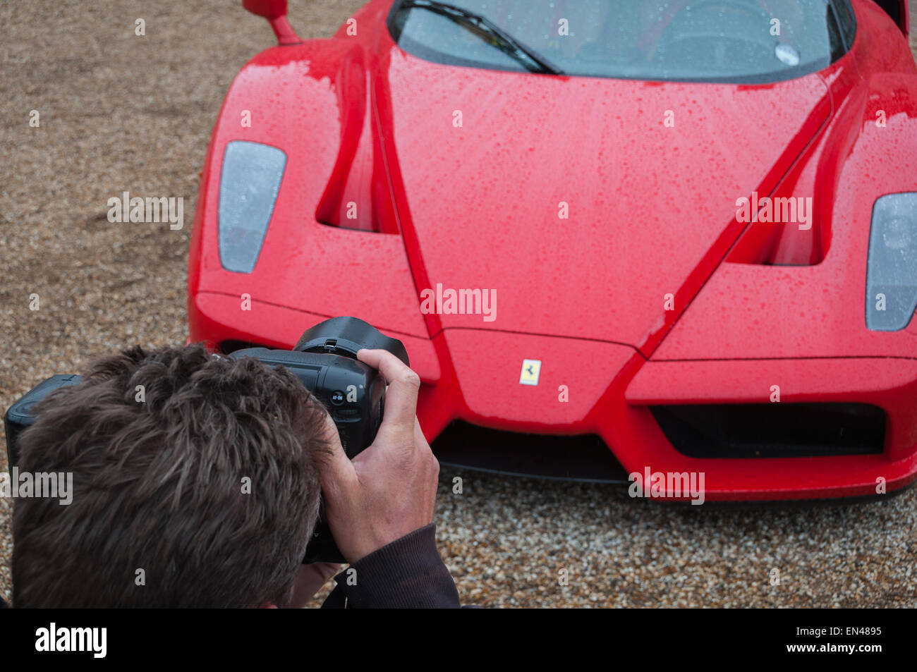 Ferrari Enzo at the Ferrari Owners Club Rally at Blenheim Palace, Woodstock, Oxfordshire - Stock Image