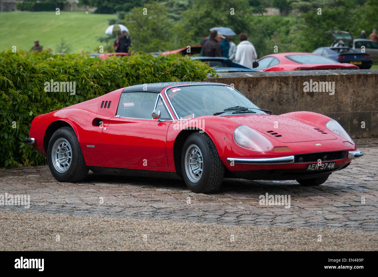 Ferrari Dino 206 GT at the Ferrari Owners Club Rally at Blenheim Palace, Woodstock, Oxfordshire - Stock Image