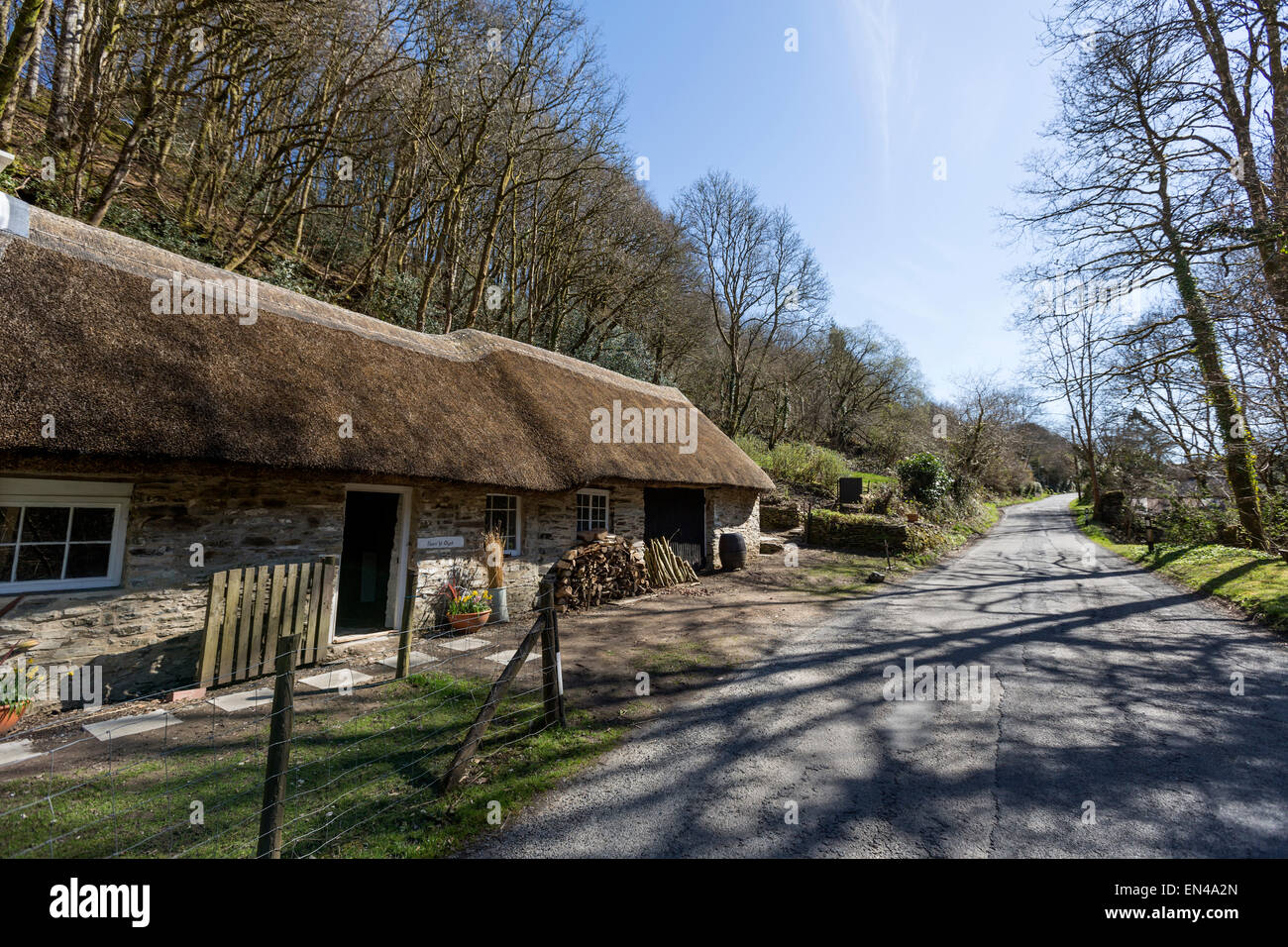 Cottages in Llandysul, Carmarthenshire, Wales - Stock Image