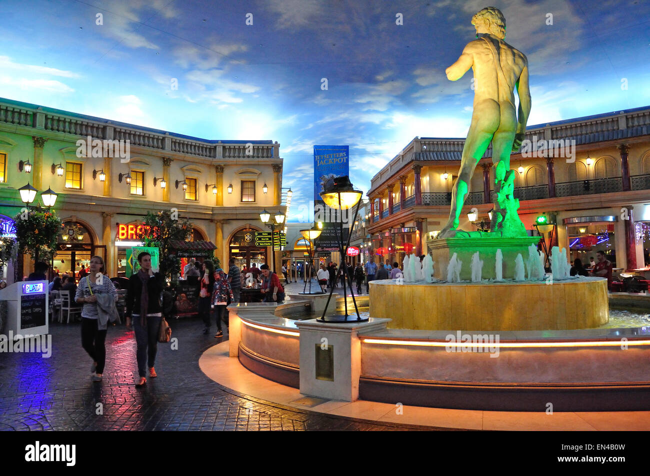 Piazza Navona Food Court at The Emperors Palace Hotel, Kempton Park, Johannesburg, Gauteng Province, Republic of - Stock Image
