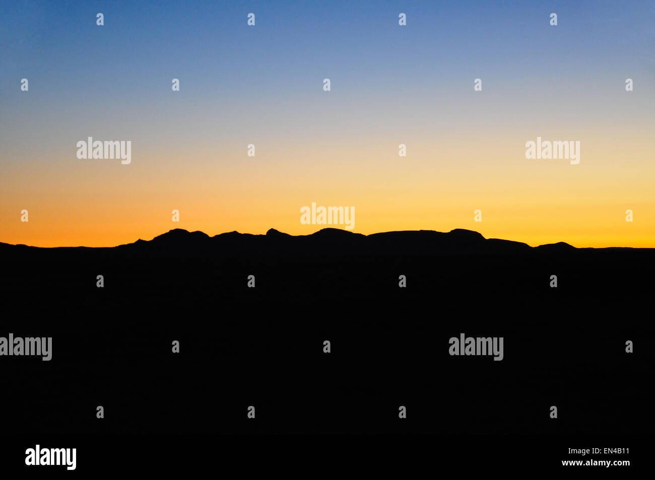 Sunset at Namib Naukluft Lodge, Solitaire, Namib Desert, Republic of Namibia - Stock Image