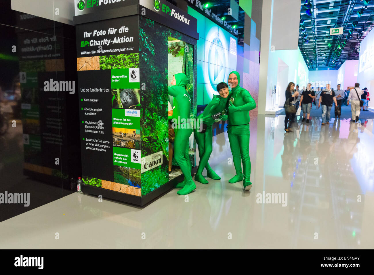 Promoters of the exhibition. - Stock Image
