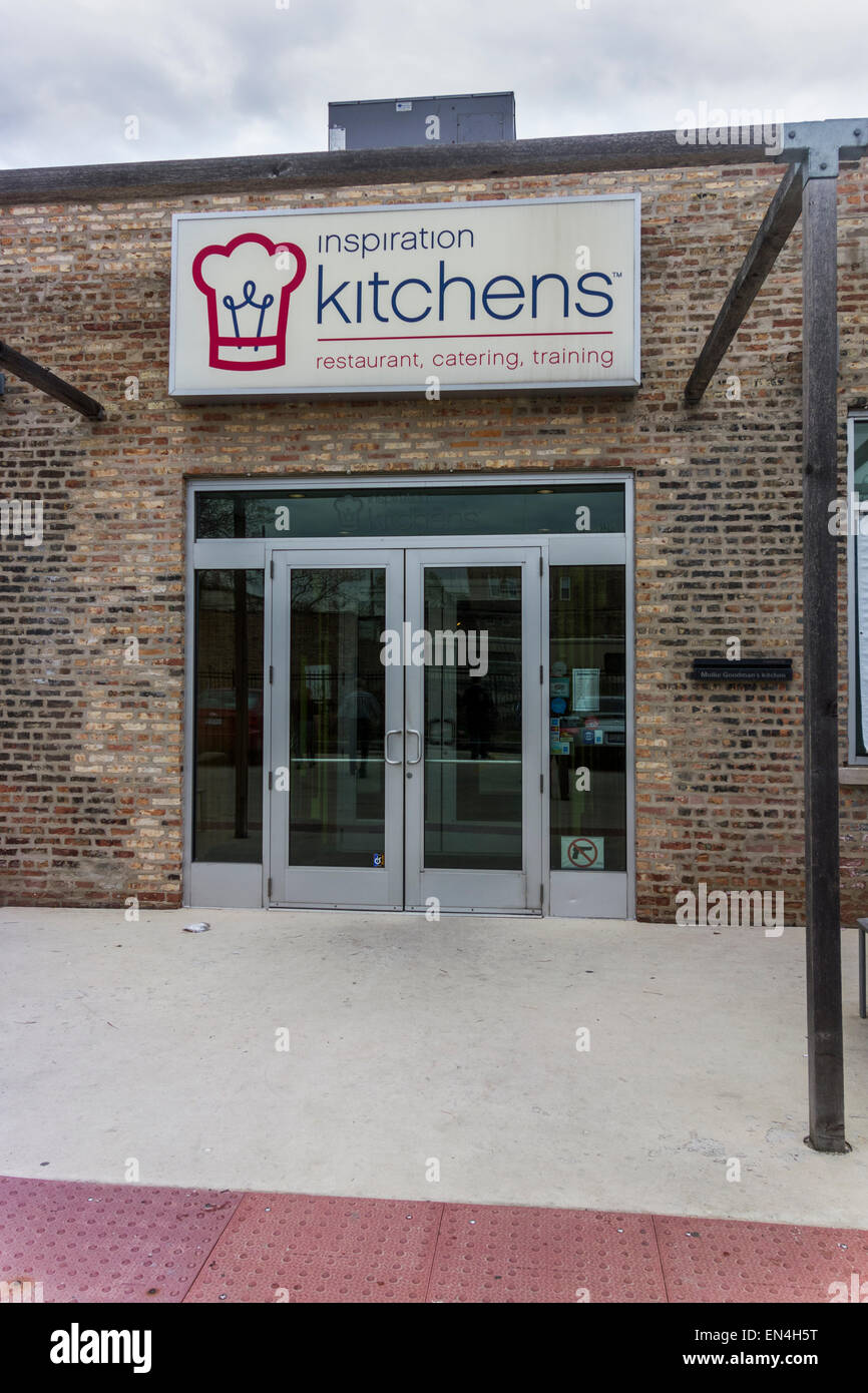 Inspiration Kitchens cafe and restaurant, Garfield Park, Chicago, USA - Stock Image