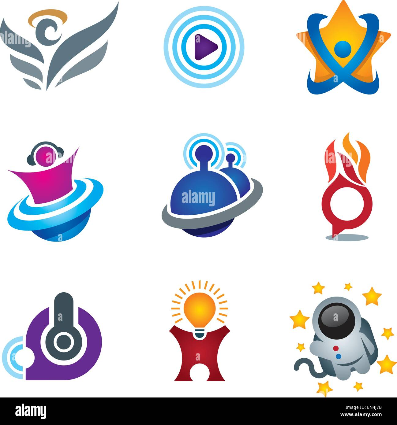 Entertainment And Fun Symbol Of Exploring Happiness Study Logo For