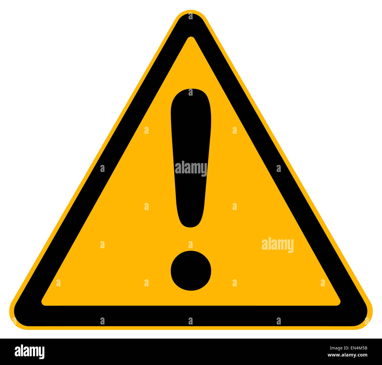 Warning Yellow Triangle Exclamation Point Stock Photos ...