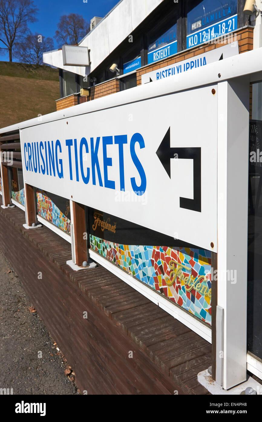 Cruising tickets sign, Lappeenranta Finland - Stock Image
