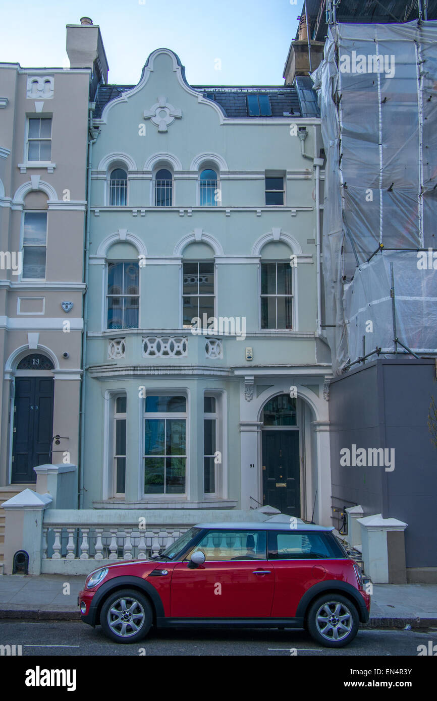 'Notting Hill' film location: the birthday party: 91 Lansdowne Road, Notting Hill, London - Stock Image