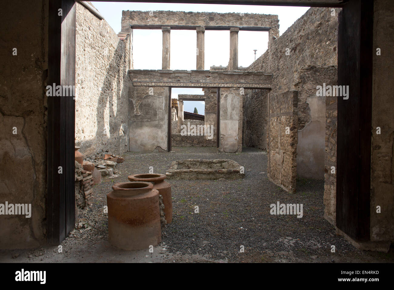 Almost 2,000 years ago, the city of pompeii was destroyed by an eruption of Mount Vesuvius. 20,000 residents of - Stock Image