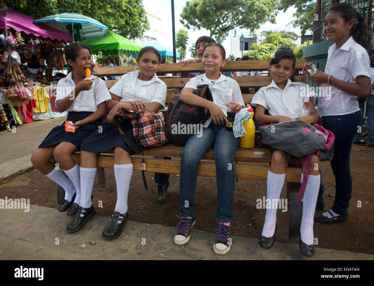 students in Nicaragua - Stock Image