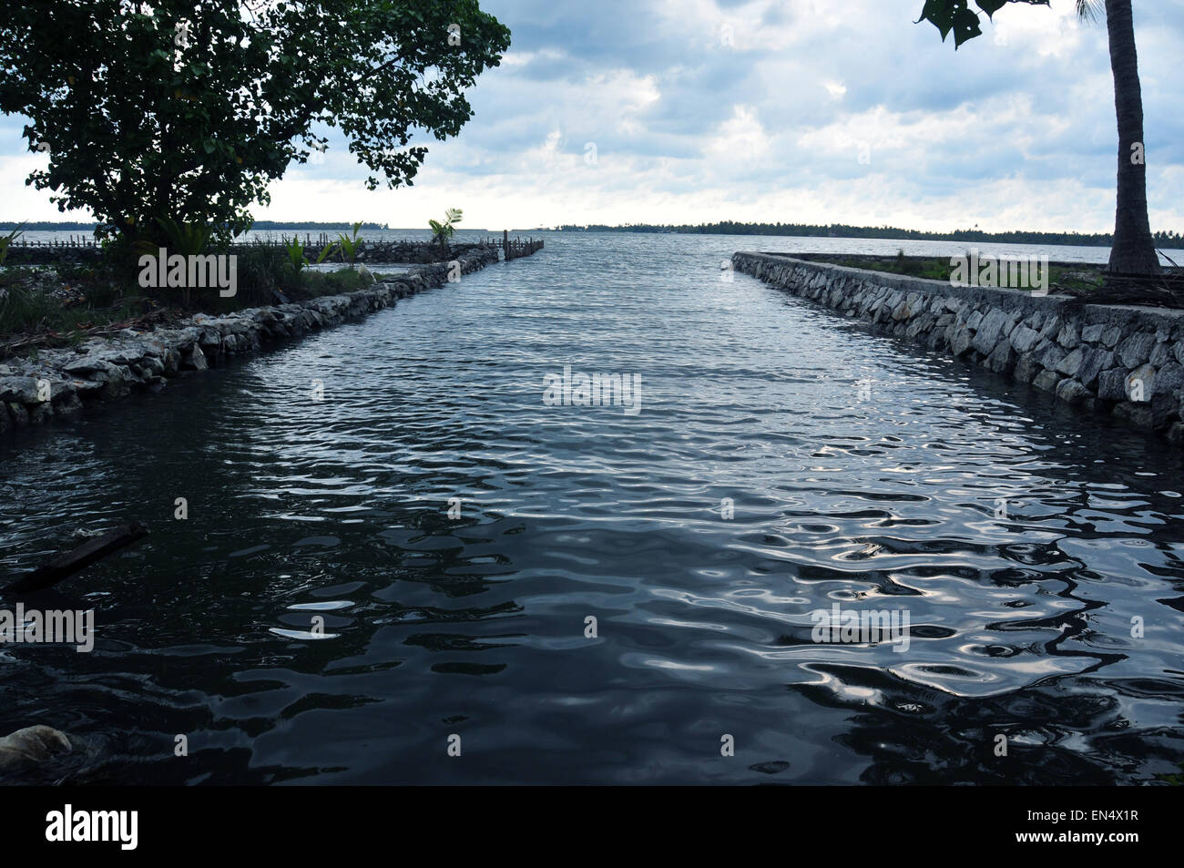 Water way to sea. - Stock Image