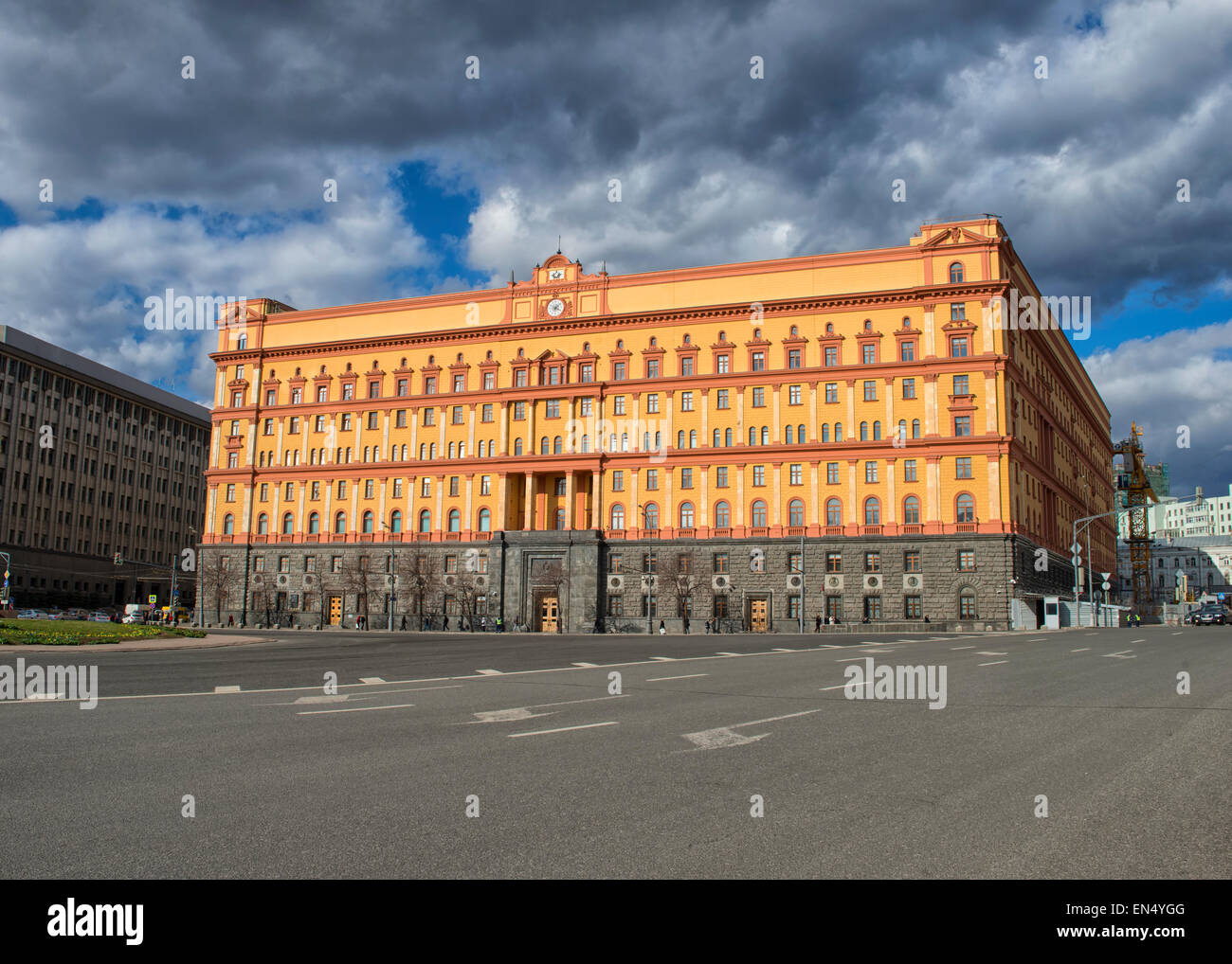 Lubyanka KGB Building in Moscow, Russia - Stock Image