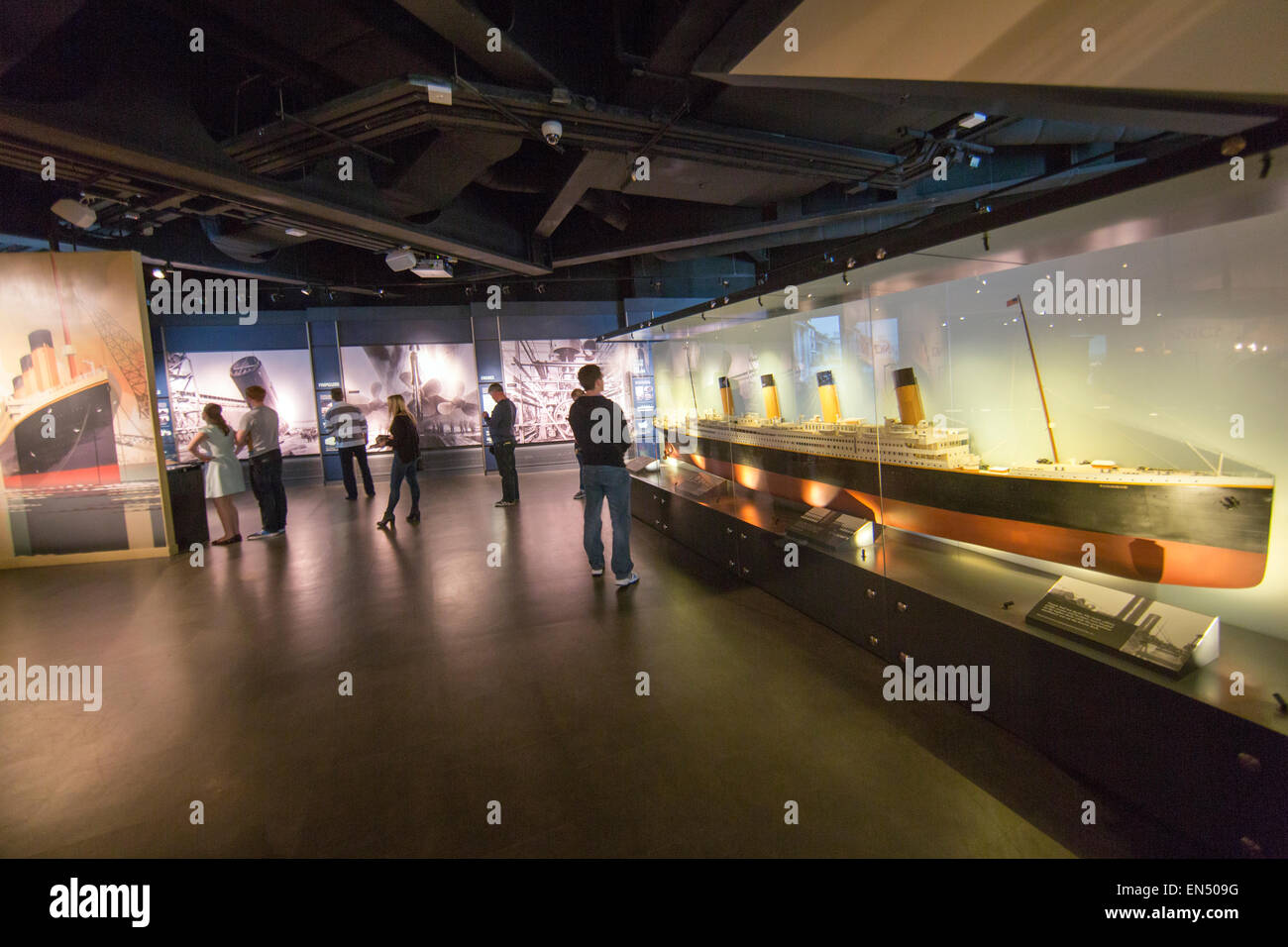 Titanic Belfast is a $165 million visitor attraction centre - Stock Image