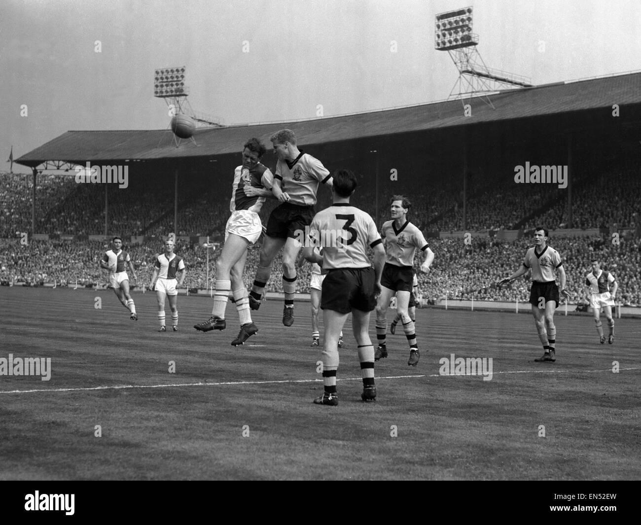 FA Cup Final 1960 at Wembley. Wolverhampton Wanderers 3 v. Blackburn Rovers 0. Saturday 7th May. Stock Photo