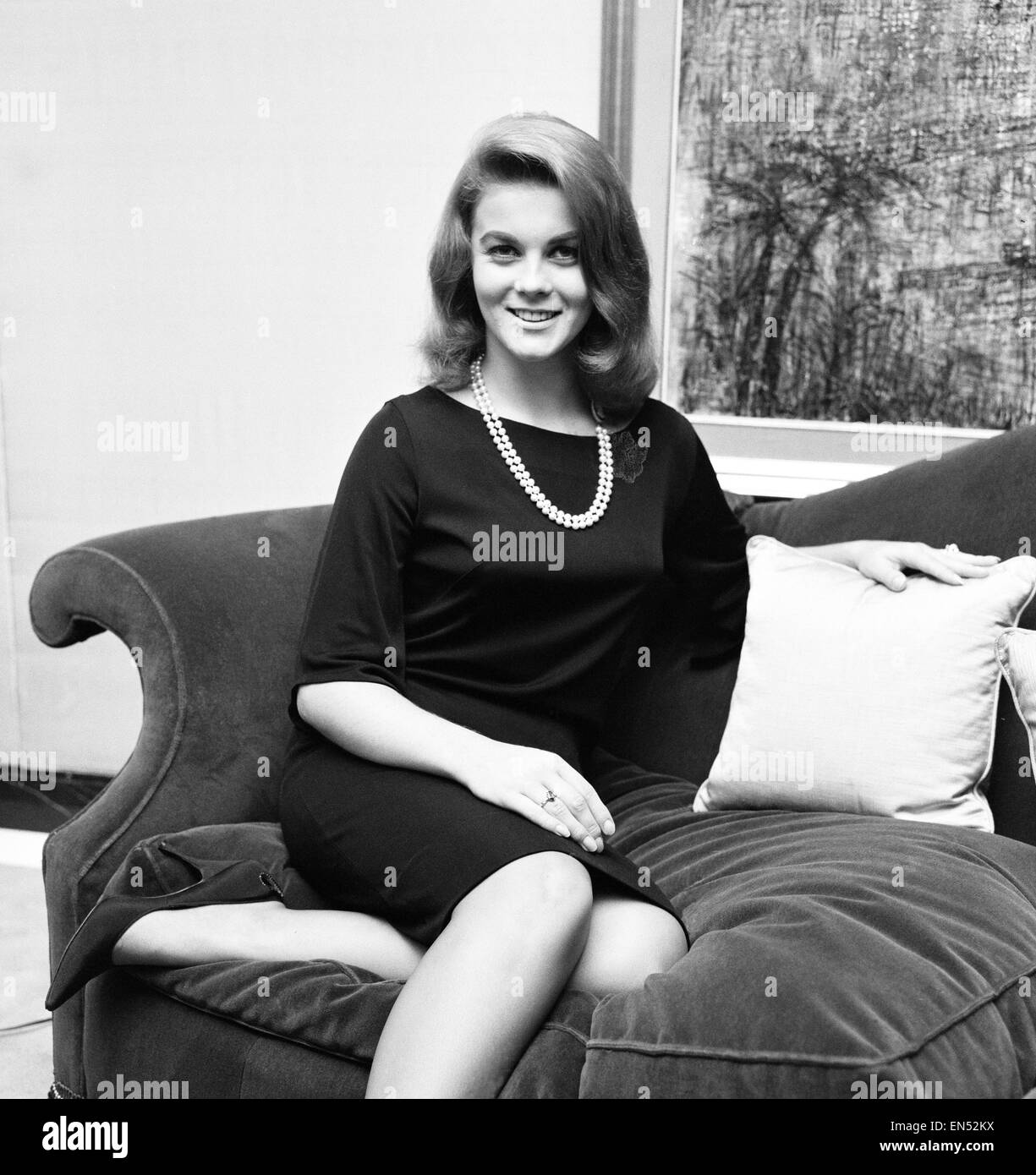 Ann Margret Olsson, film actress & singer, pictured at the May Fair Hotel in London, 6th November 1963. Ann - Stock Image
