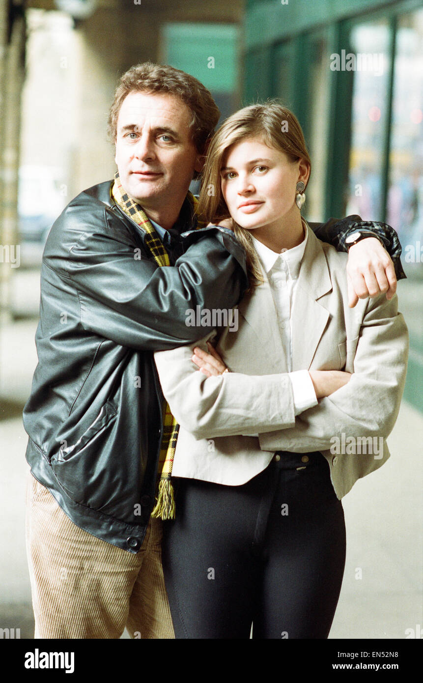 Dr Who, Sylvester McCoy with his assistant Ace alias Sophie Aldred during a BBC photocall to promote the new series - Stock Image