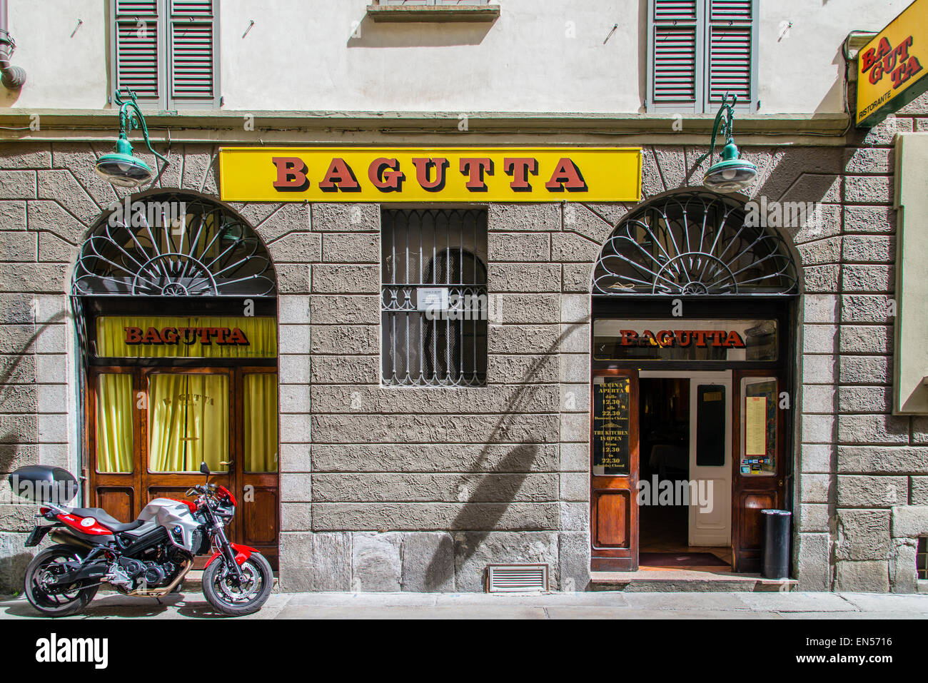 The historic Bagutta trattoria restaurant, Milan, Lombardy, Italy. Since 1927 it's home of the first Italian literary - Stock Image