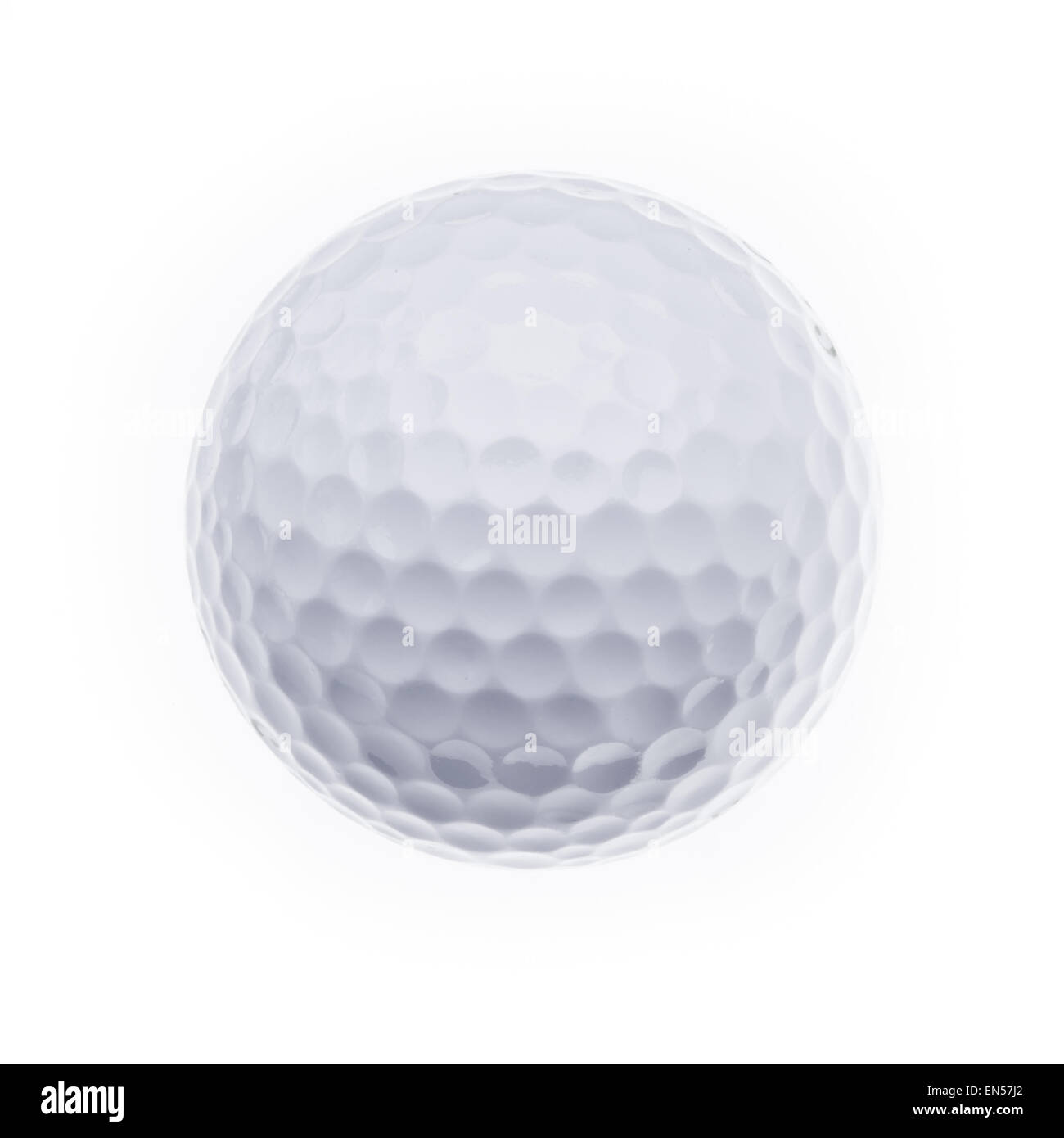 A golfball on a white background - Stock Image