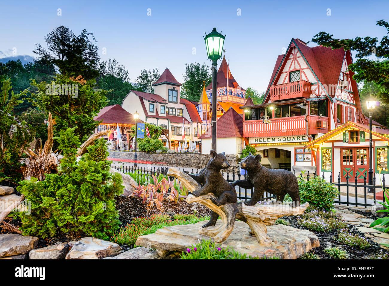 Helen Georgia Usa Bavarian Town Recreation Stock Photo