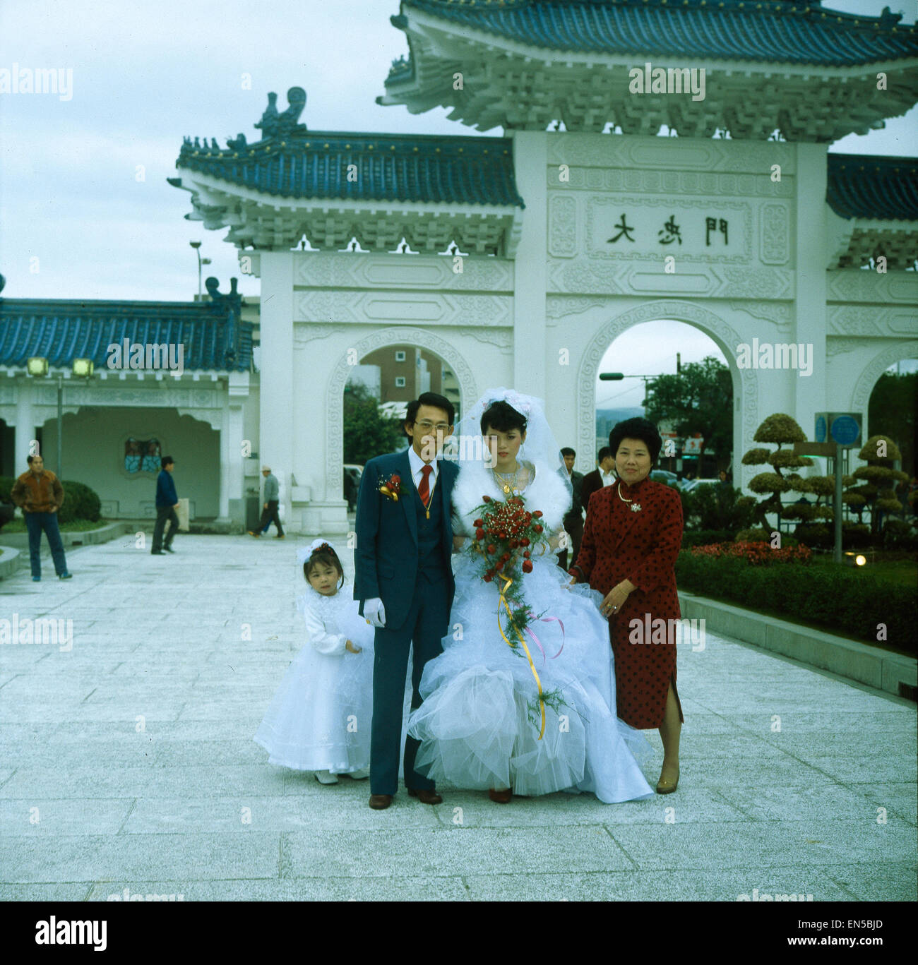 Taiwan, Taipeh, Brautpaar in Taipeh - Stock Image