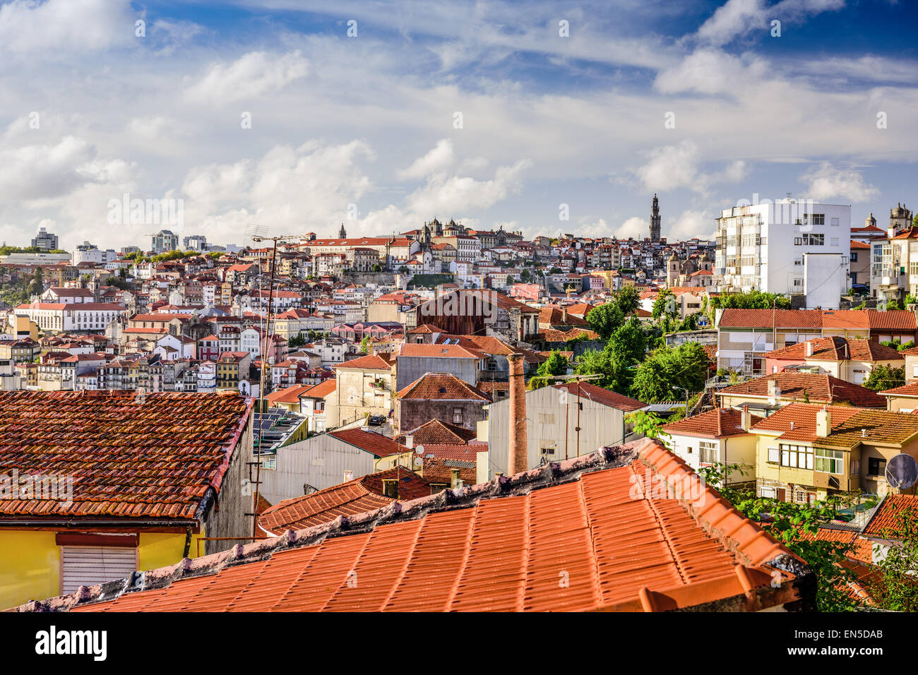 Porto, Portugal old town skyline. - Stock Image