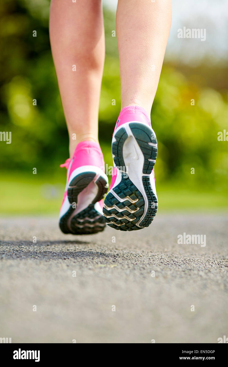 Close up of runners feet - Stock Image