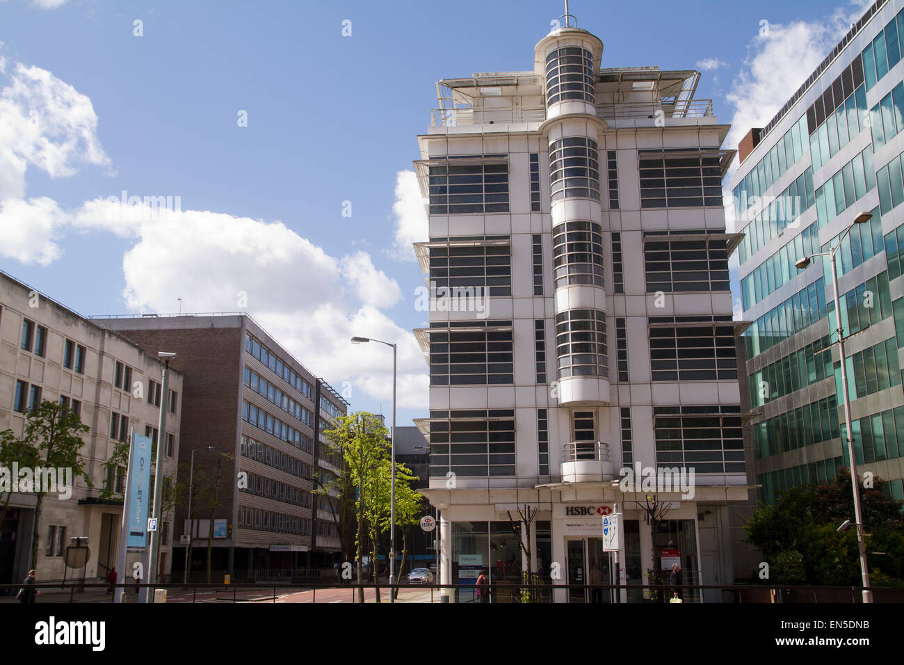 HSBC bank in Croydon Wellesley Road UK - Stock Image