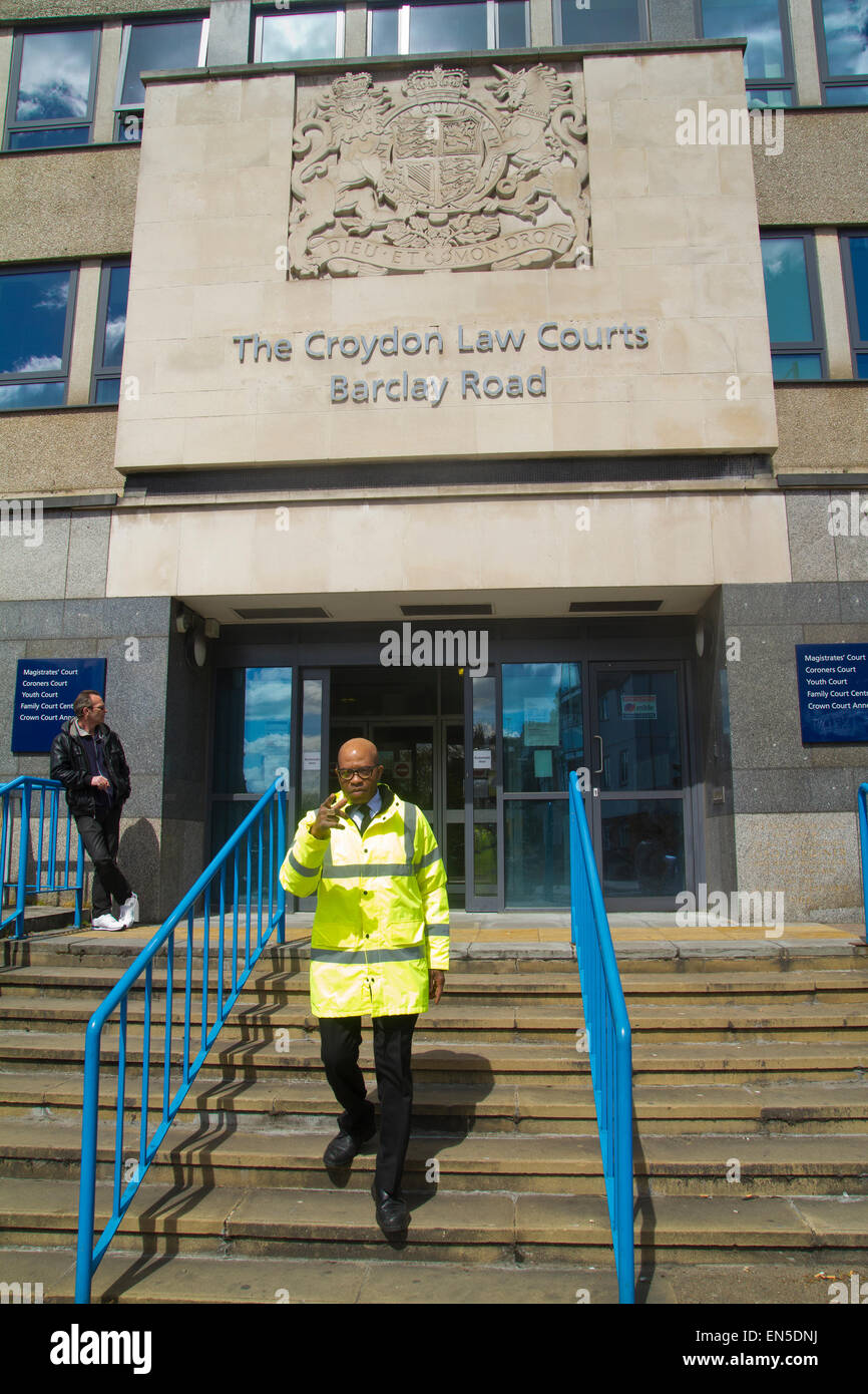 Security at Magistrates Courts in Croydon Surrey - Stock Image