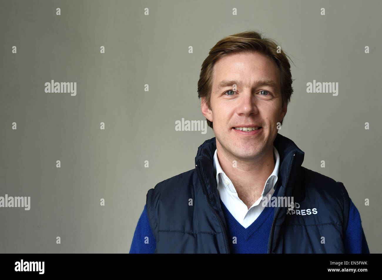 Berlin, Germany. 17th Apr, 2015. Founder and CEO of Food Express Max von Waldenfels poses in Berlin, Germany, 17 - Stock Image