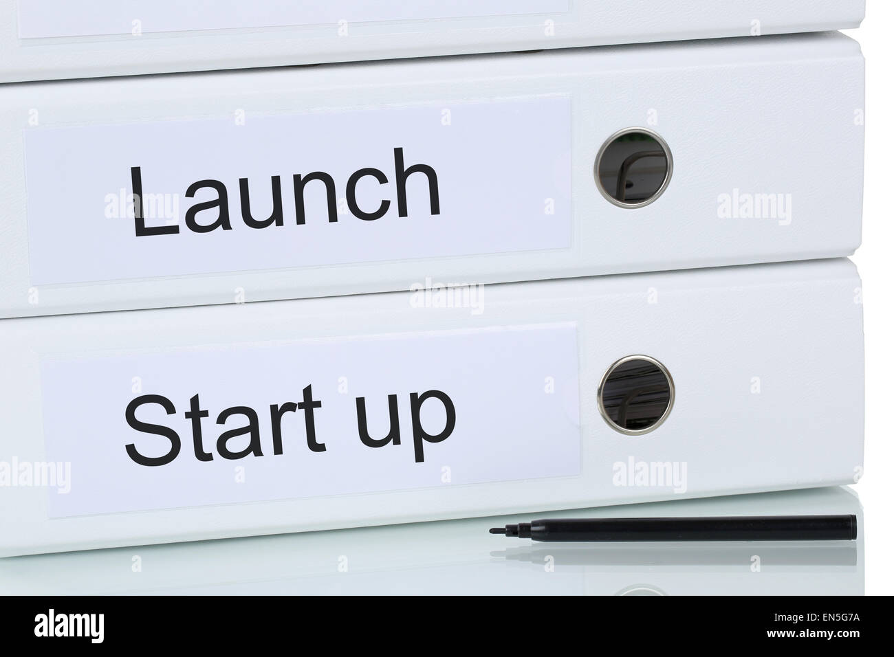 Launch of a start up business company concept for success and growth - Stock Image