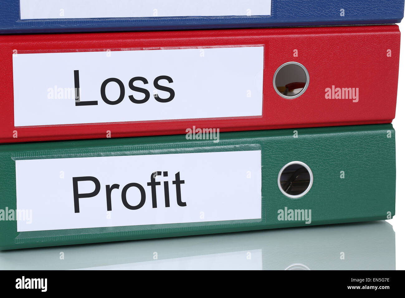 Loss and profit finances in company business concept - Stock Image