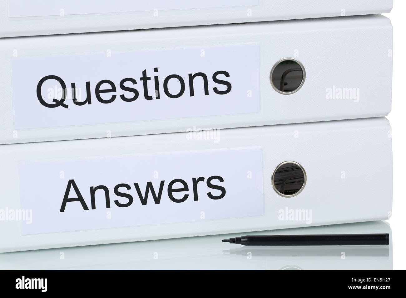Question and answer problem solution business concept - Stock Image