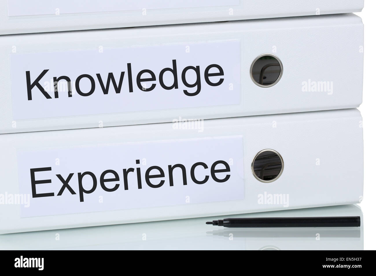 With successful knowledge and experience to success business concept - Stock Image