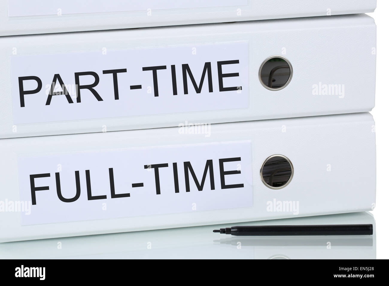 Part-time and full-time job working employment business concept - Stock Image