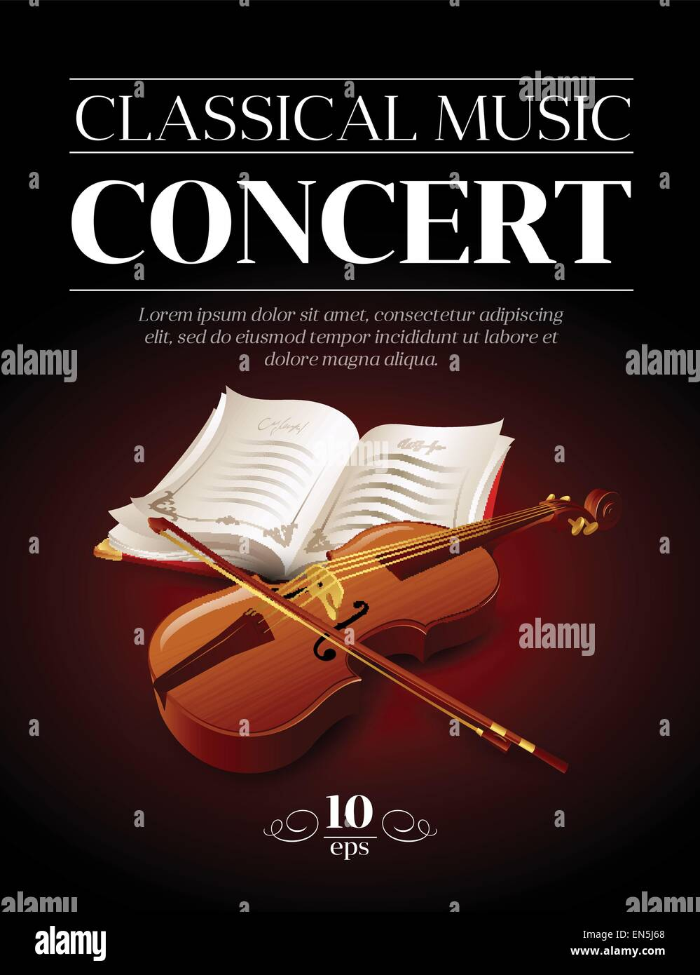 Poster Of A Classical Music Concert Vector Illustration