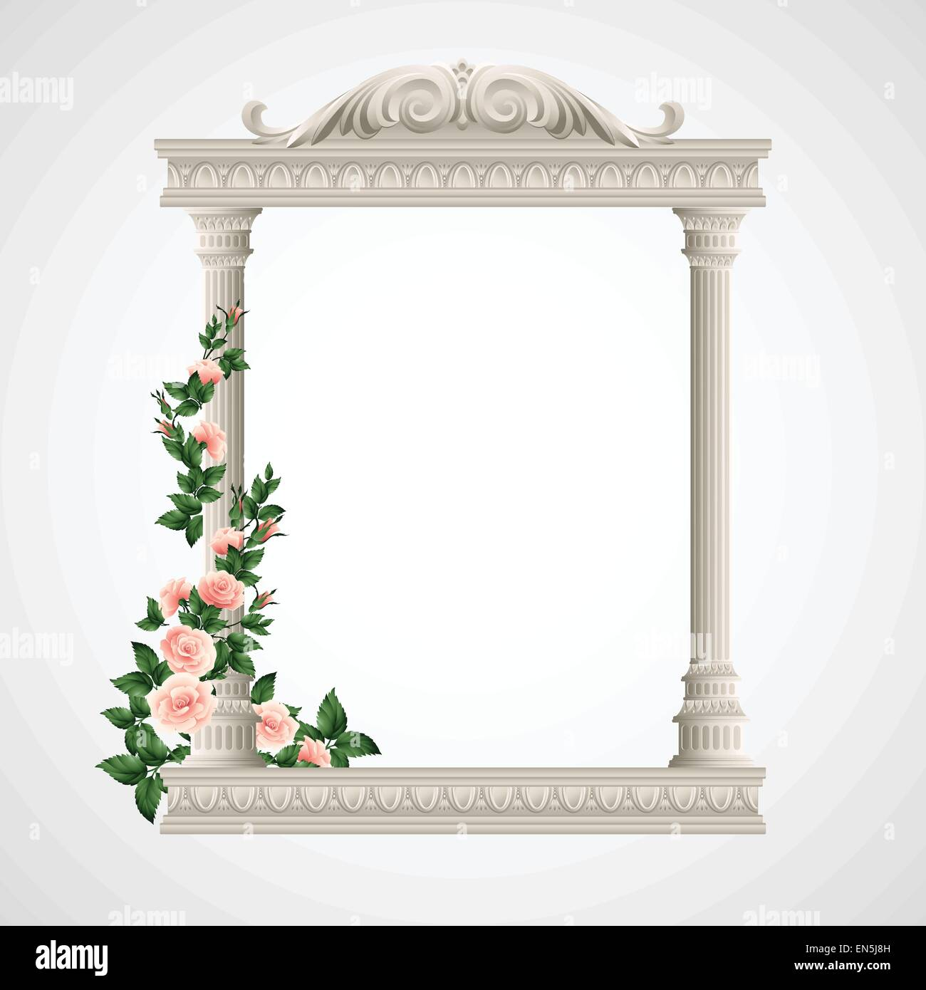 Portico an ancient temple. Colonnade.  Vector Illustration EPS 10 - Stock Vector