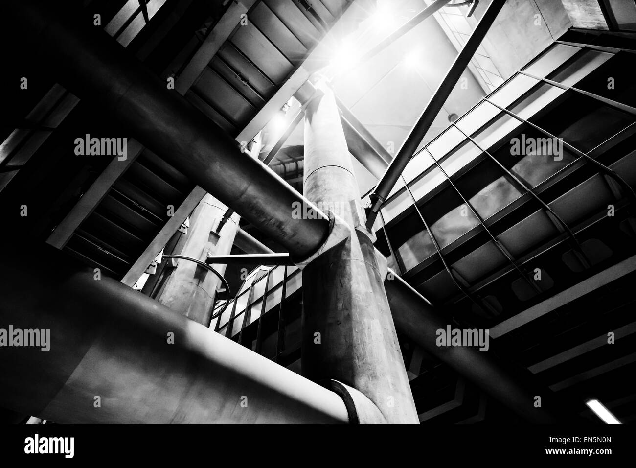 Deep in the bottom of Westminster's tube station, taken 2014 Stock Photo