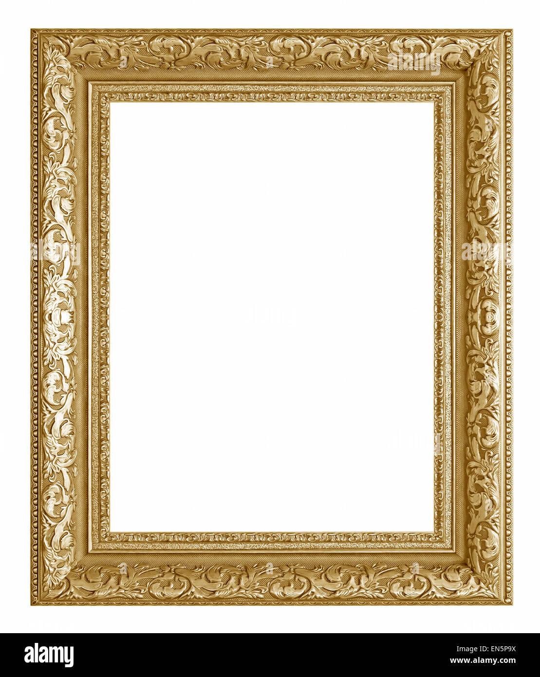 woode picture frame. Isolated over white background Stock Photo