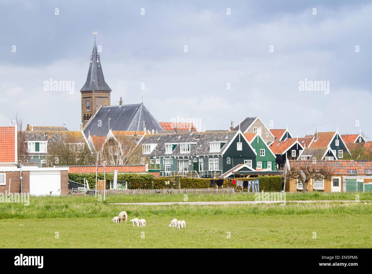 Grote Kerk, Marken, Holland - Stock Image