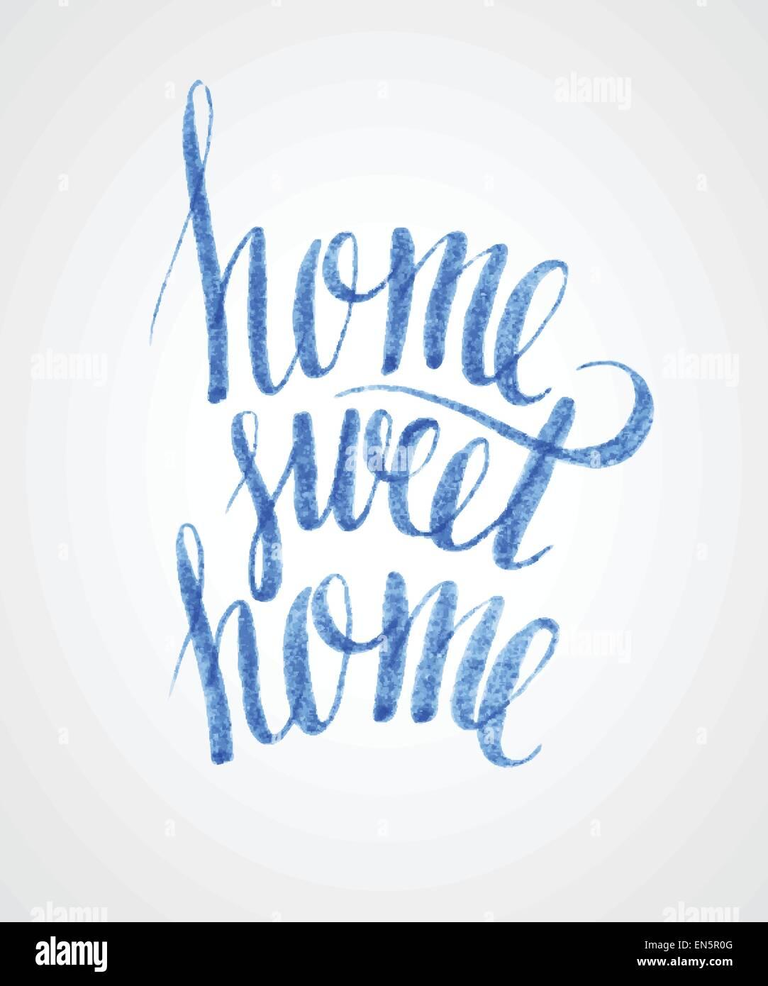 Sweet home hand lettering. Vector EPS 10 - Stock Vector