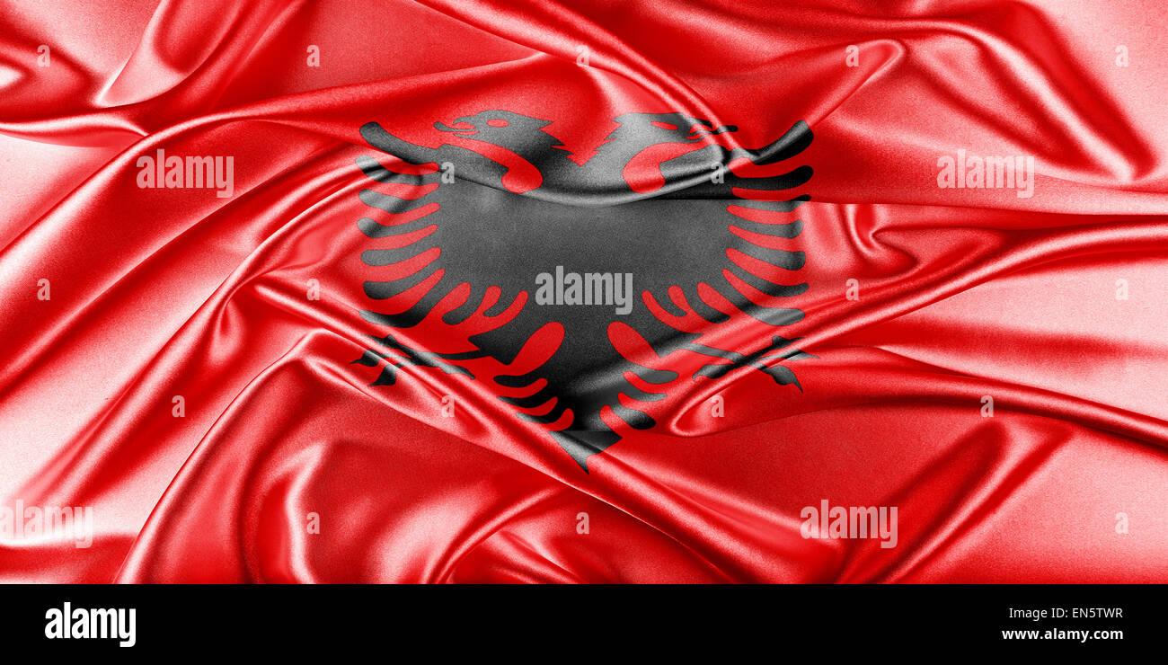 Albania Flag - Stock Image