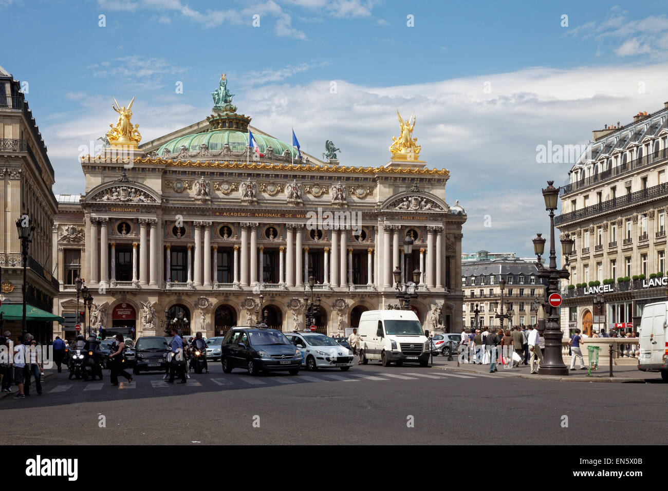 Paris Opéra, Palais Garnier, Opéra de Paris or Opéra Garnier, Paris Academie Nationale De Musique, - Stock Image