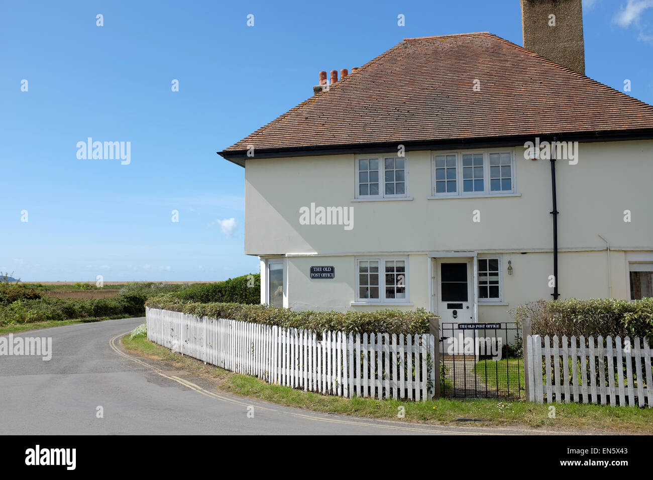 The Old Post Office in Keyhaven in the New Forest Hampshire England UK - Stock Image